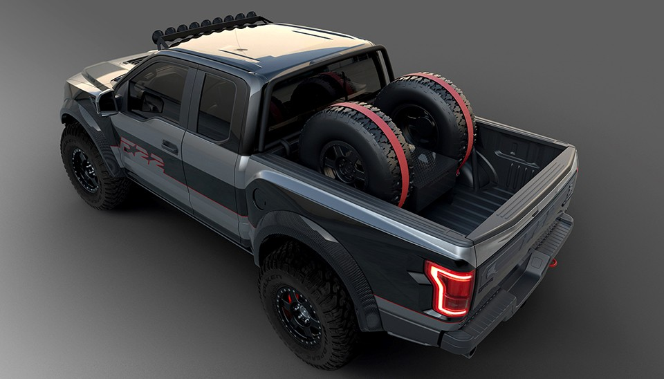 f 22 raptor inspired ford f 150 raptor heading to auction autoevolution. Black Bedroom Furniture Sets. Home Design Ideas