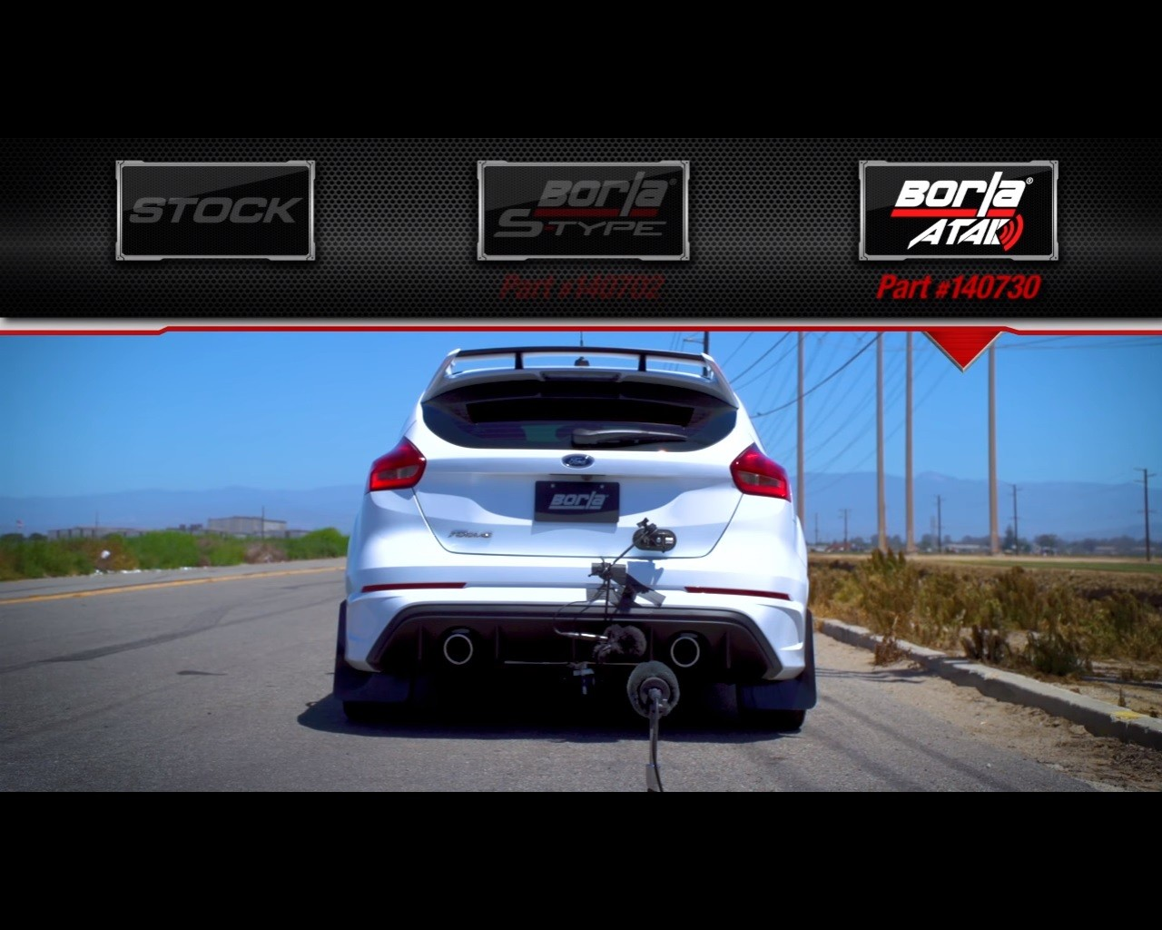 ford focus rs tuned with borla cat back exhaust