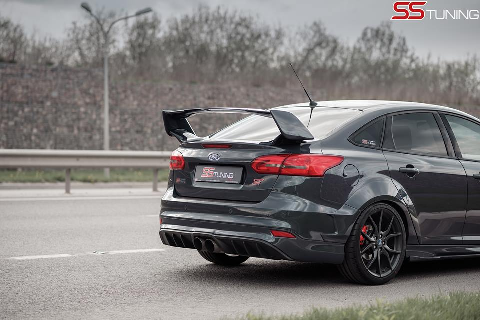 2017 Sti Lowered >> Ford Focus ST Sedan by SS Tuning Has an STI Wing - autoevolution