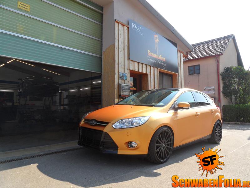 Ford Focus Wrapped In Matte Orange Autoevolution