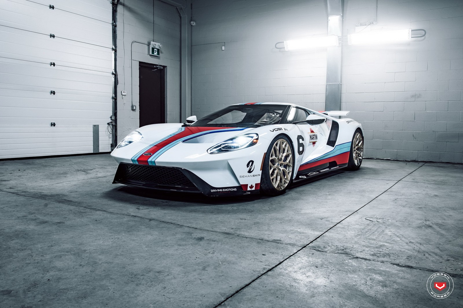 Ford Gt Gets Martini Livery And Vossen Wheels For The Cars And Coffee Look