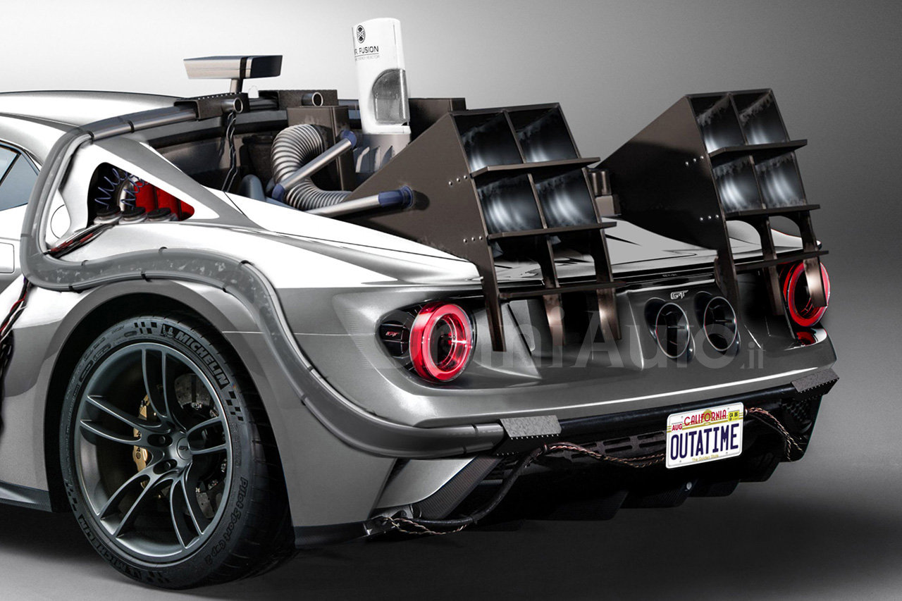 ford gt is turned into a bttf time machine just for the