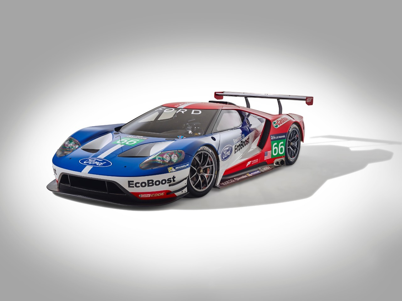 ford gt le mans racecar confirmed to debut at 2016 daytona. Black Bedroom Furniture Sets. Home Design Ideas