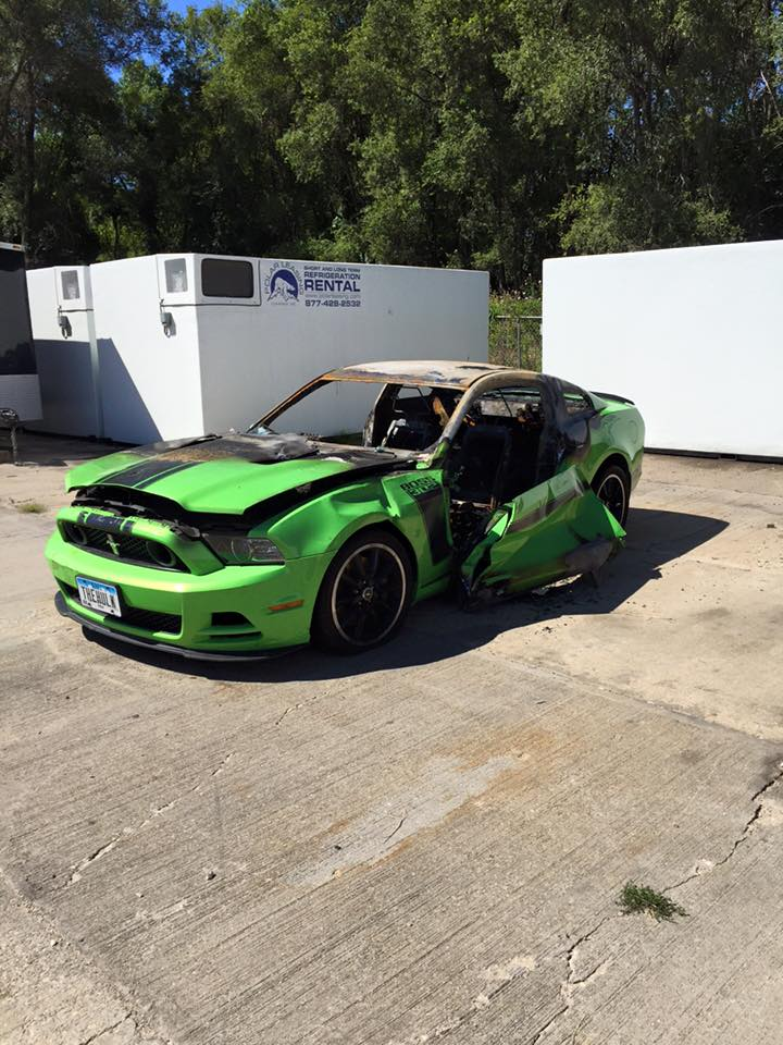 Ford Mustang Boss 302 Quot The Hulk Quot Set On Fire By Vandals