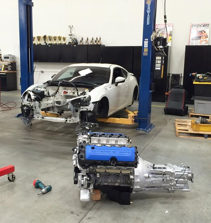 Ford Mustang Boss 302 V8 Engine Swap for a Scion FR-S Looks Insane
