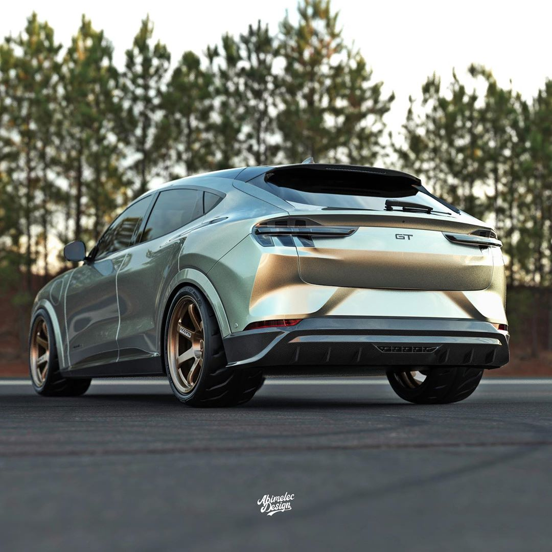 """Ford Mustang Mach-E GT """"Shorty"""" Goes for the Custom Look - autoevolution"""