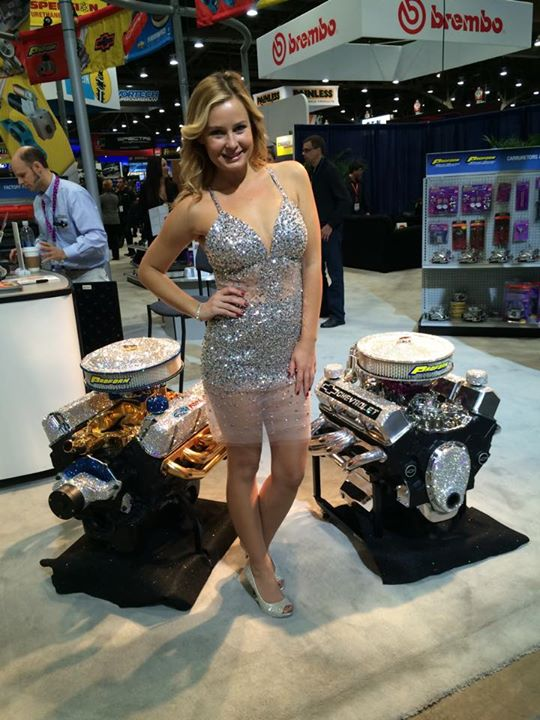 Ford Racing And Chevrolet V Crate Engines Get Swarovski Crystals And Gold Bling Treatment