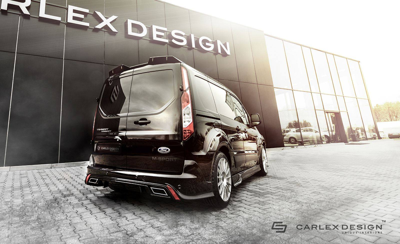 ford transit connect gets tuning body kit from carlex. Black Bedroom Furniture Sets. Home Design Ideas