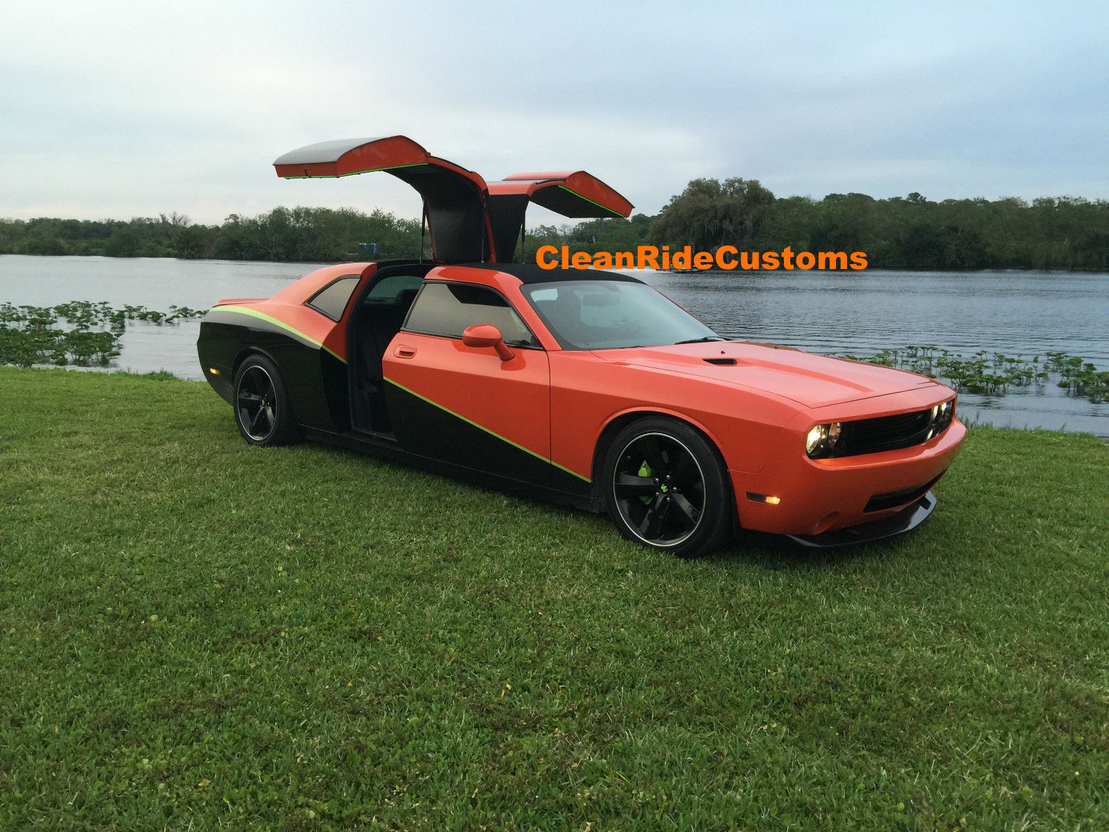 Four Door Dodge Challenger Srt8 Has Rear Gullwing Doors