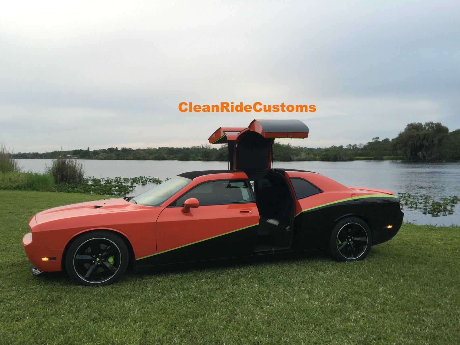 four door dodge challenger srt8 has rear gullwing doors 89146