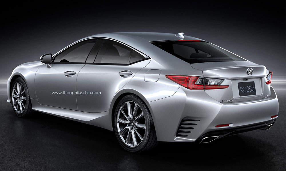 Four-Door Lexus RC Rendering: Japanese Niche Game - autoevolution