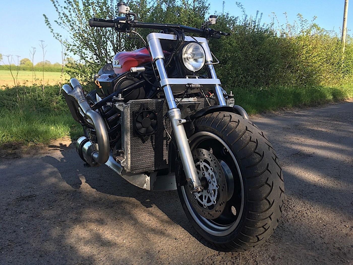 Frankenstein Bike With Audi V6 Engine And Slk Supercharger Sold On Ebay Autoevolution