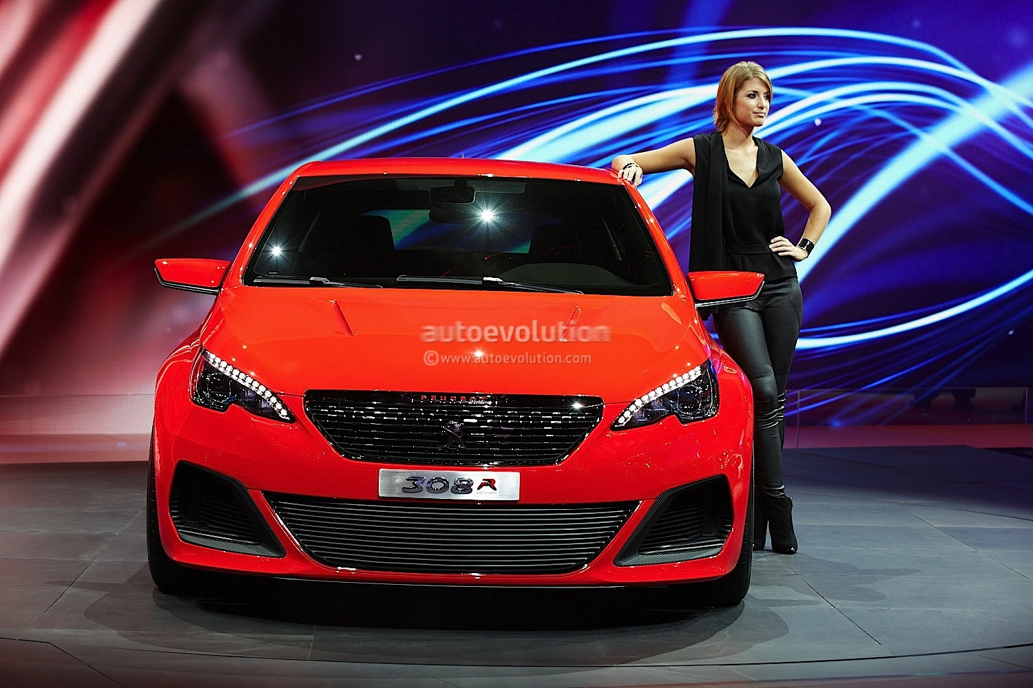 frankfurt 2013 peugeot 308 r concept live photos autoevolution. Black Bedroom Furniture Sets. Home Design Ideas