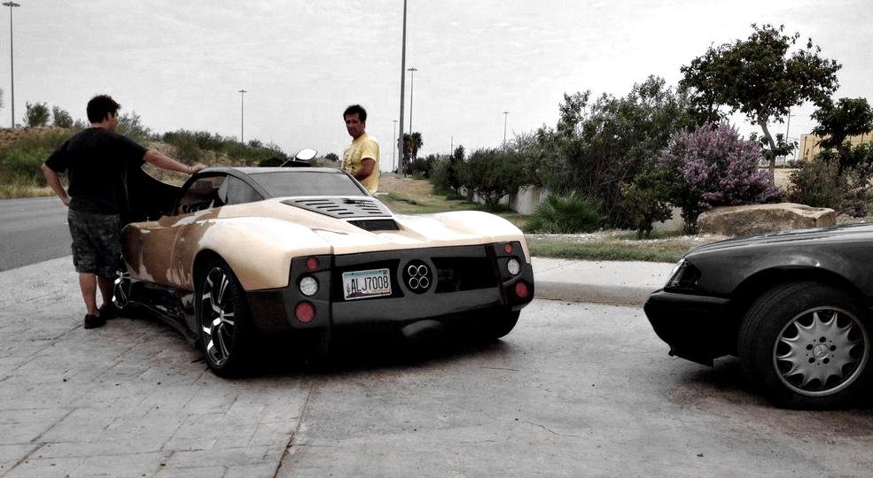 front-engined pagani zonda replica spotted in texas! - autoevolution