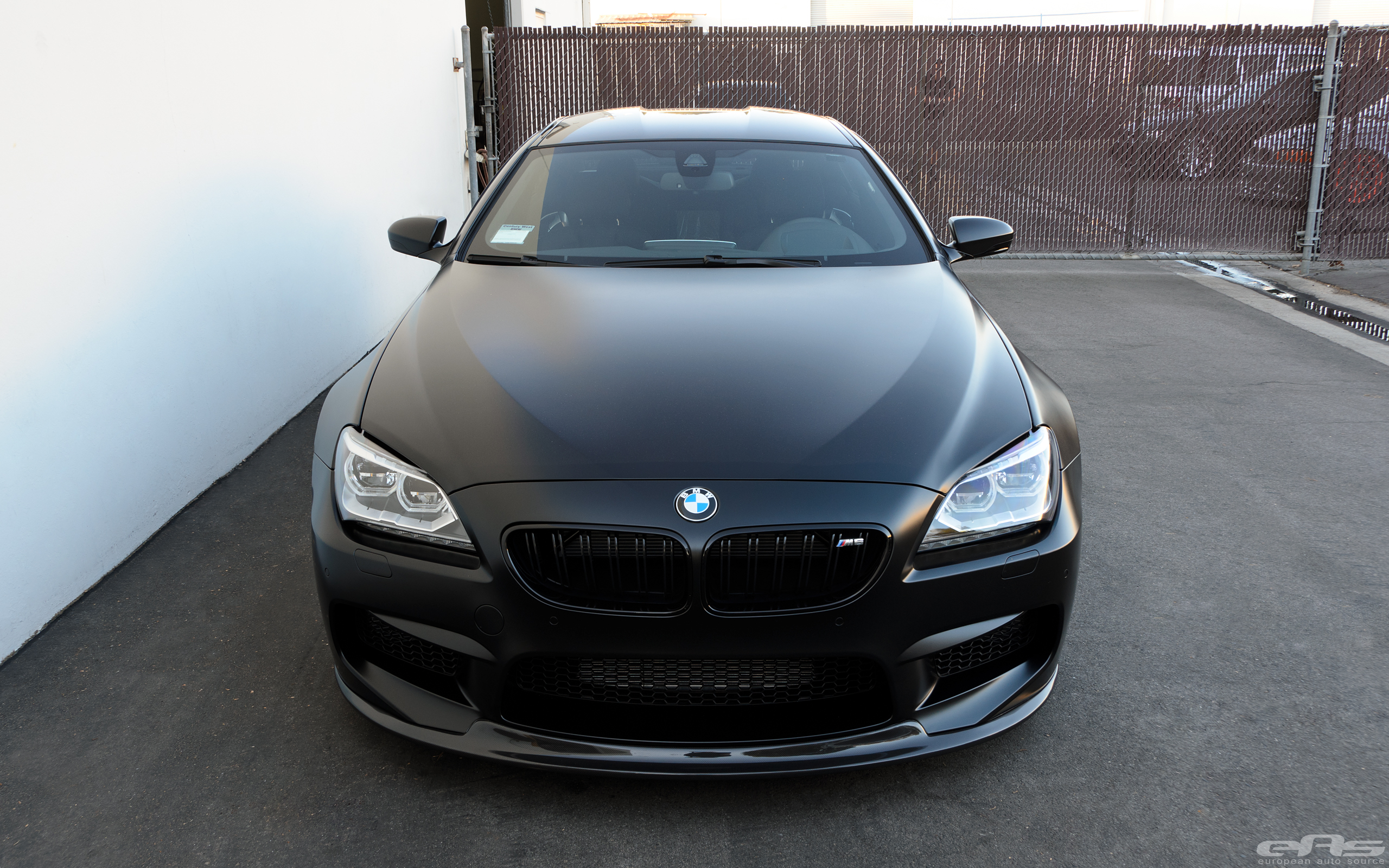 Frozen Black Bmw M6 Gran Coupe Is Breathtaking Autoevolution
