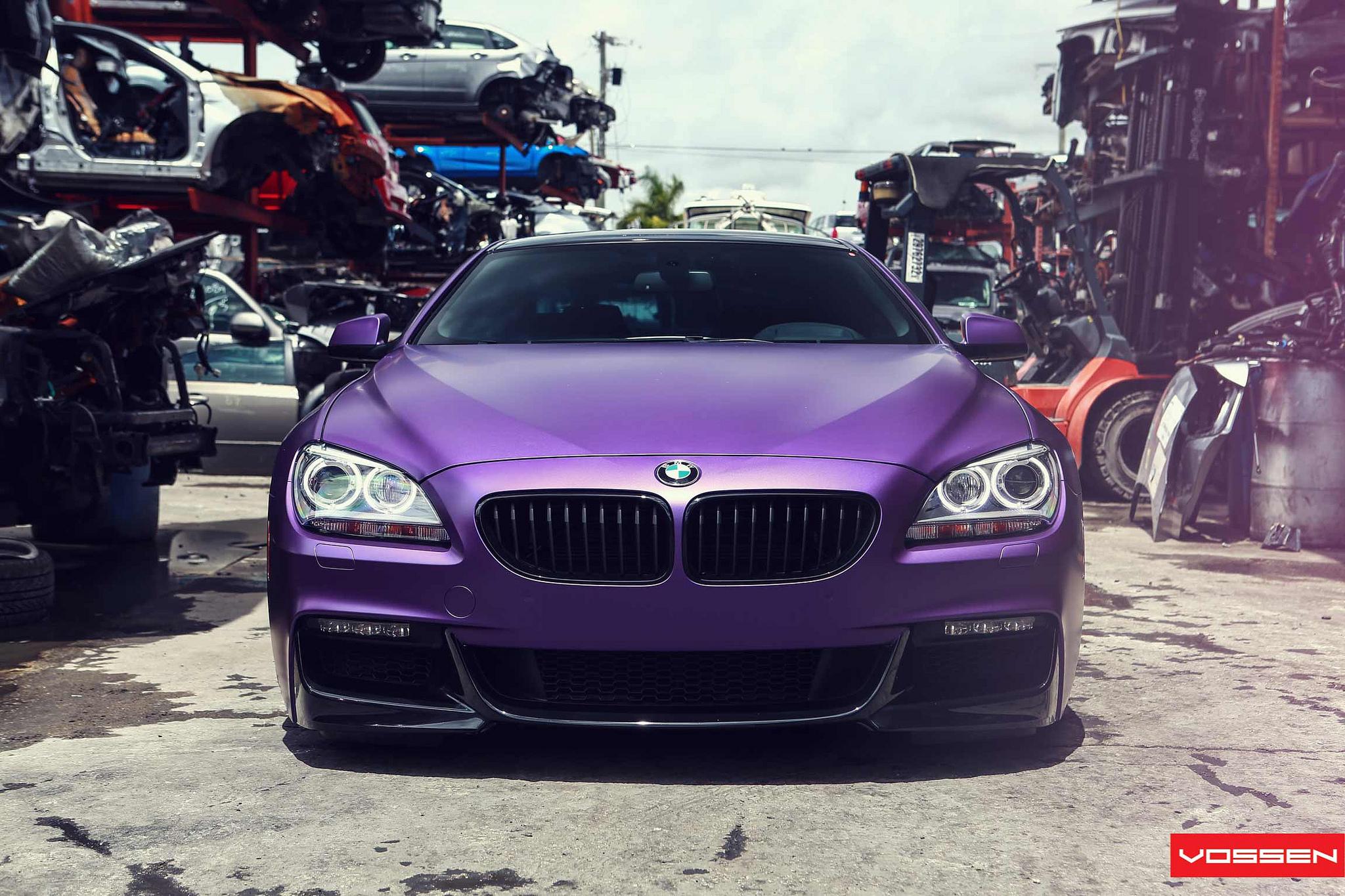 Frozen Purple Bmw 6 Series Coupe Does Photo Shoot In Scrapyard Autoevolution