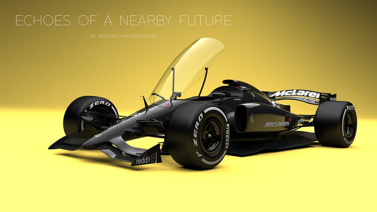 Future Formula 1 Concept Earns Closed Cockpit Honda