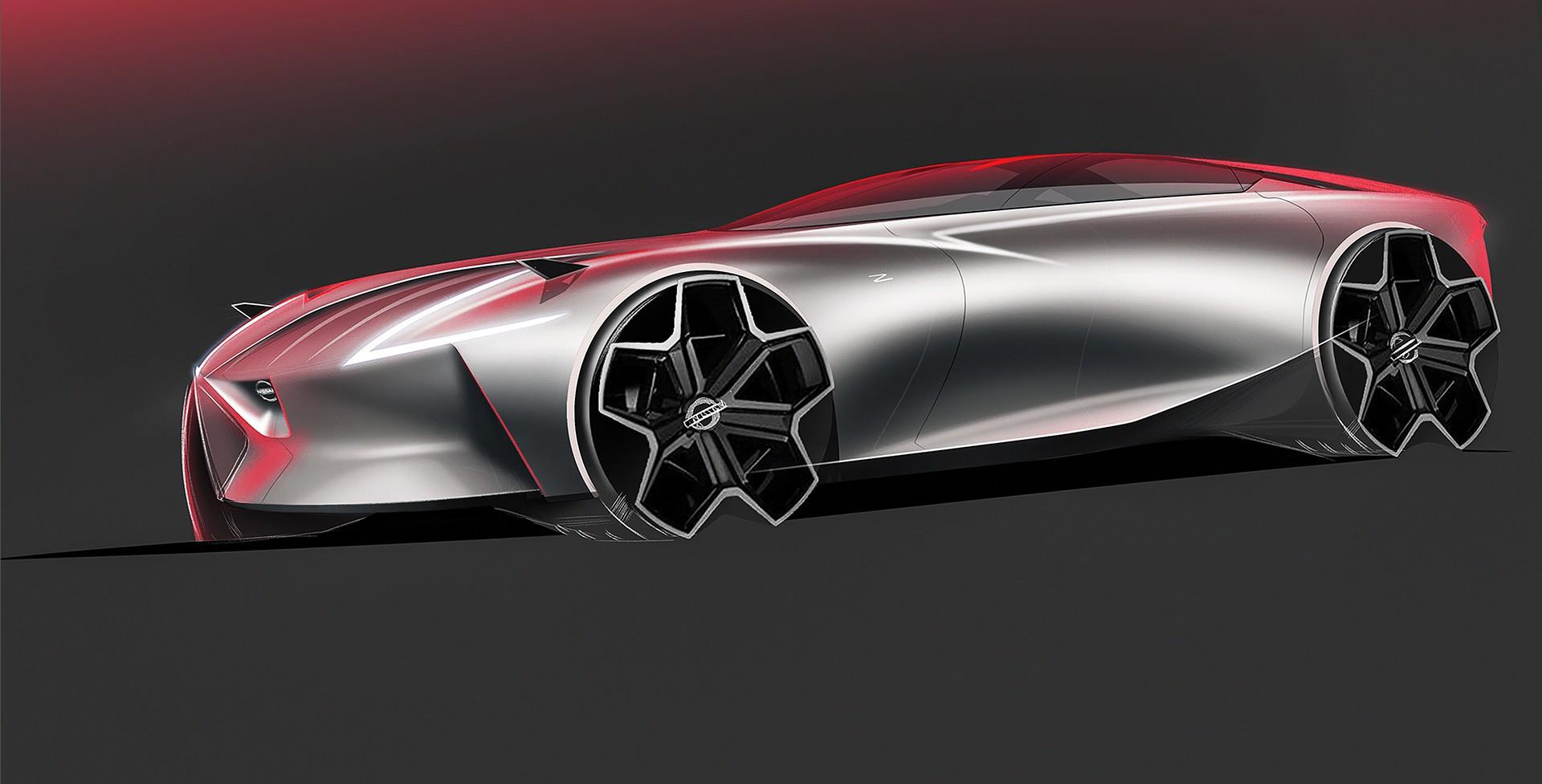 futuristic datsun 240z rendering called zvision looks