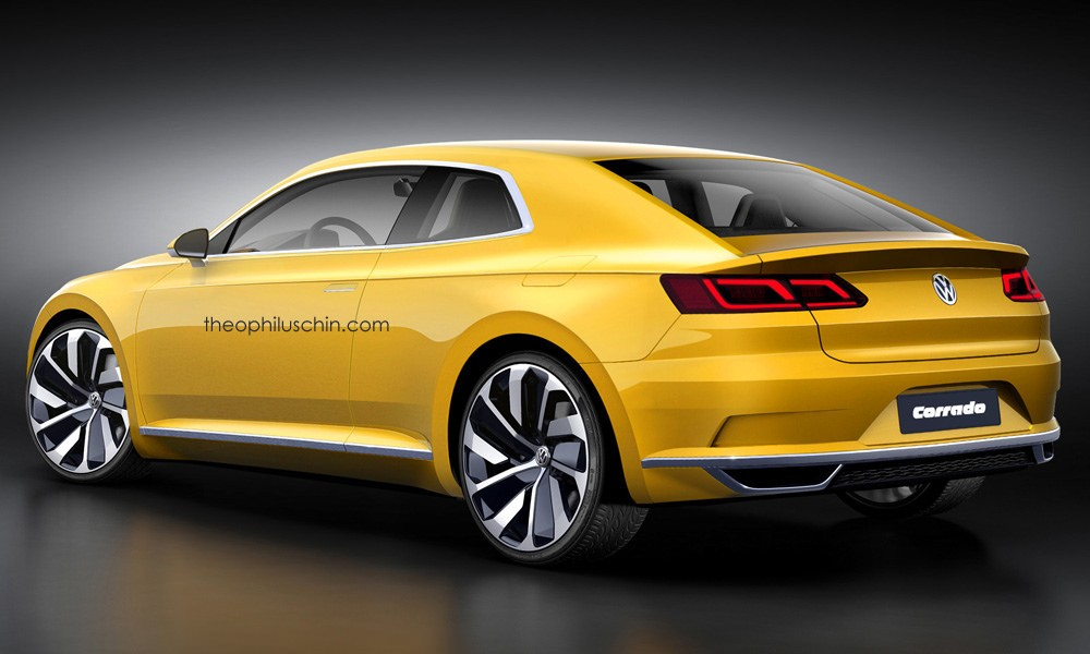 futuristic volkswagen corrado has gte concept styling cues autoevolution. Black Bedroom Furniture Sets. Home Design Ideas