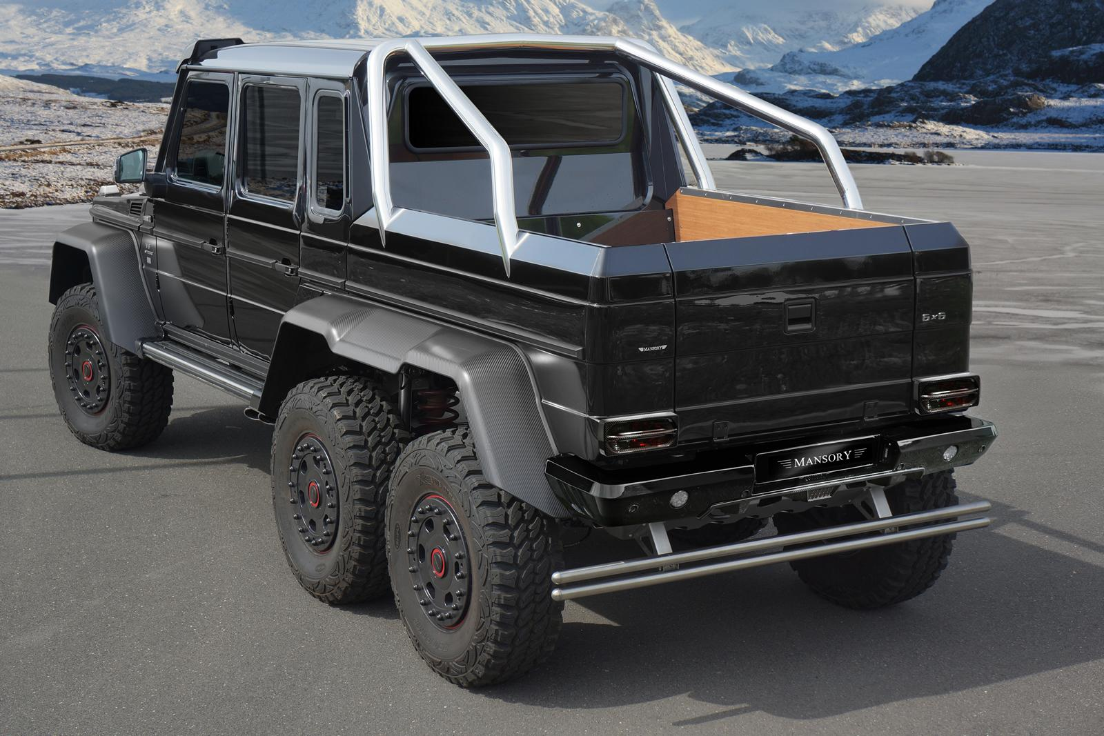 g 63 amg 6x6 gets more oomph from mansory autoevolution. Black Bedroom Furniture Sets. Home Design Ideas