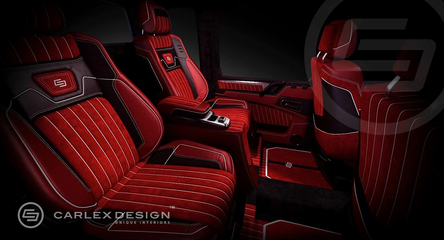 G 63 Amg 6x6 Gets Pimped Interior From Carlex Design