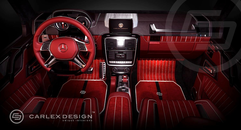 Mercedes-Benz G 63 AMG 6x6 Interior by Carlex Design