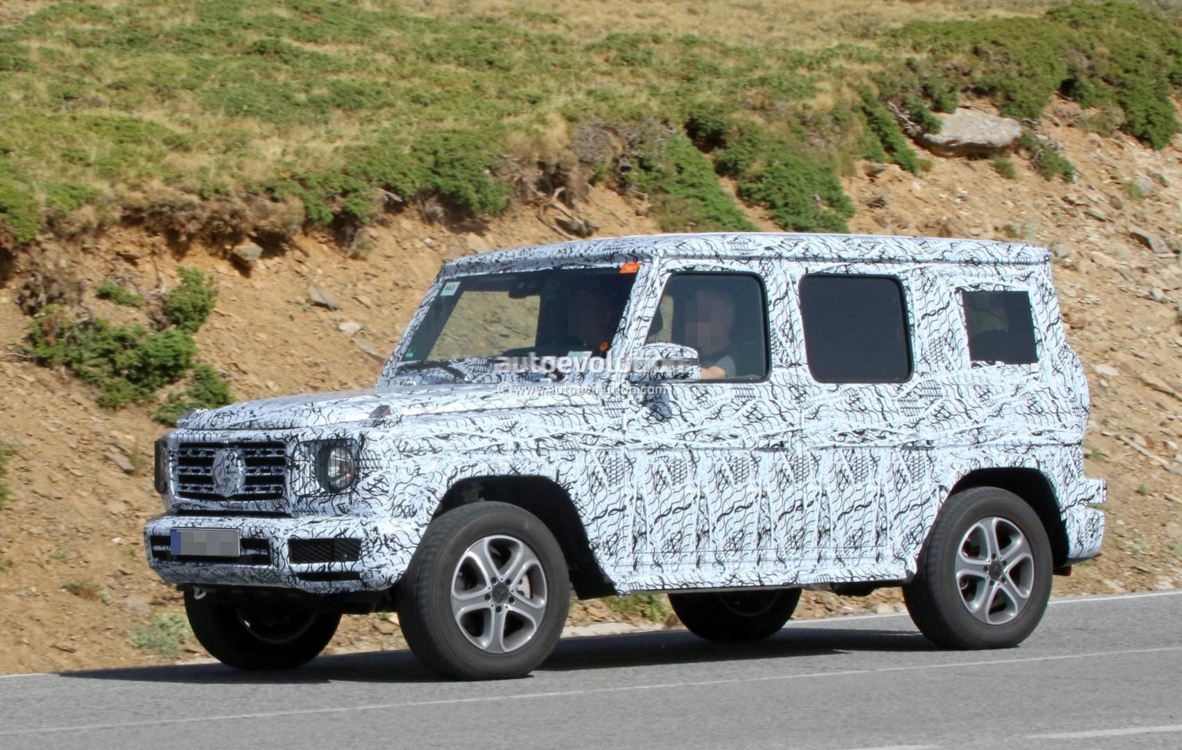 Next Generation Mercedes Benz G Class Dashboard Partially Revealed