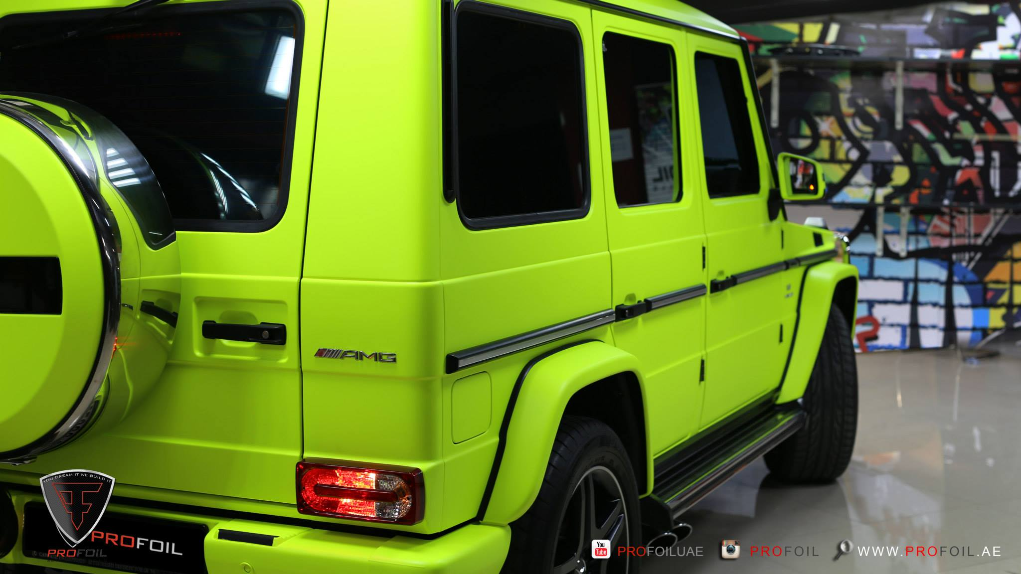 G63 AMG Gets Neon Yellow Wrap from ProFoil [Video ...