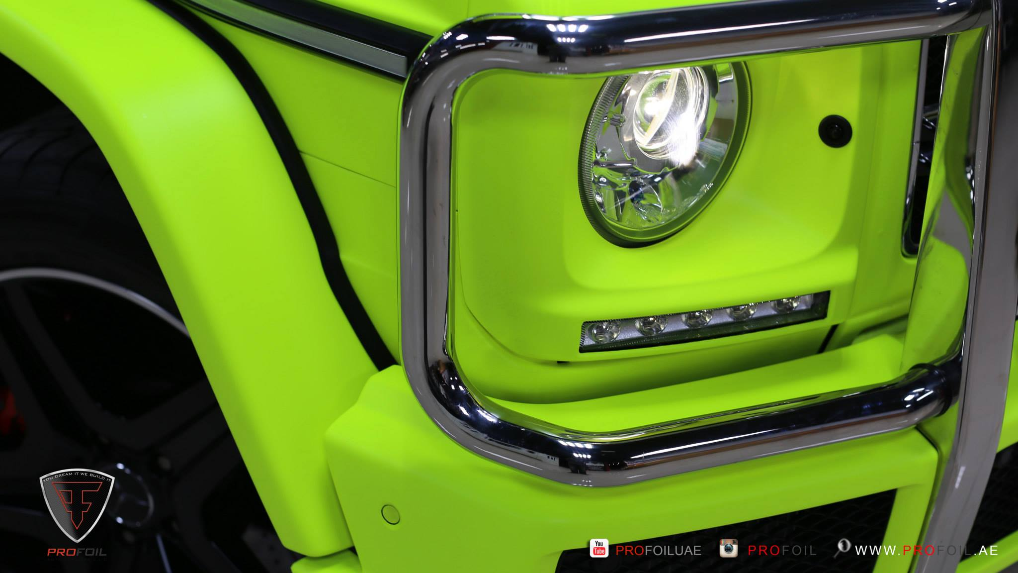 G63 Amg Gets Neon Yellow Wrap From Profoil Video