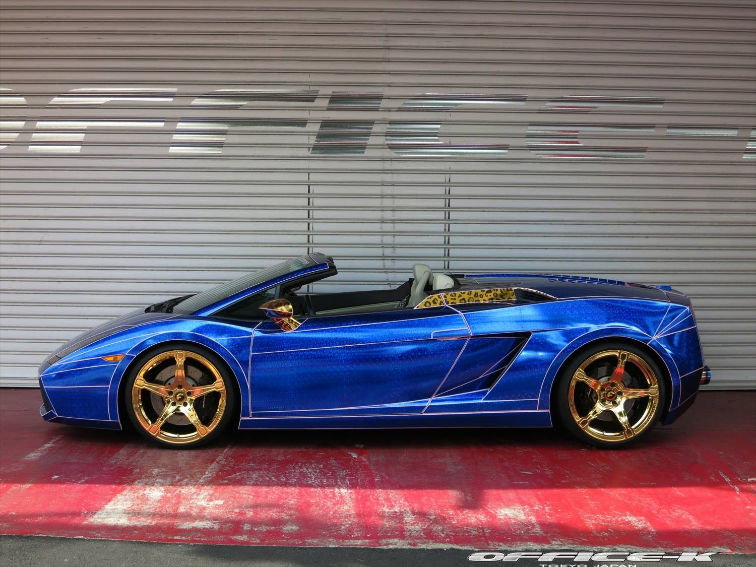 Gallardo Spyder Quot Morohoshi S Special Quot Gets Gold Wheels And