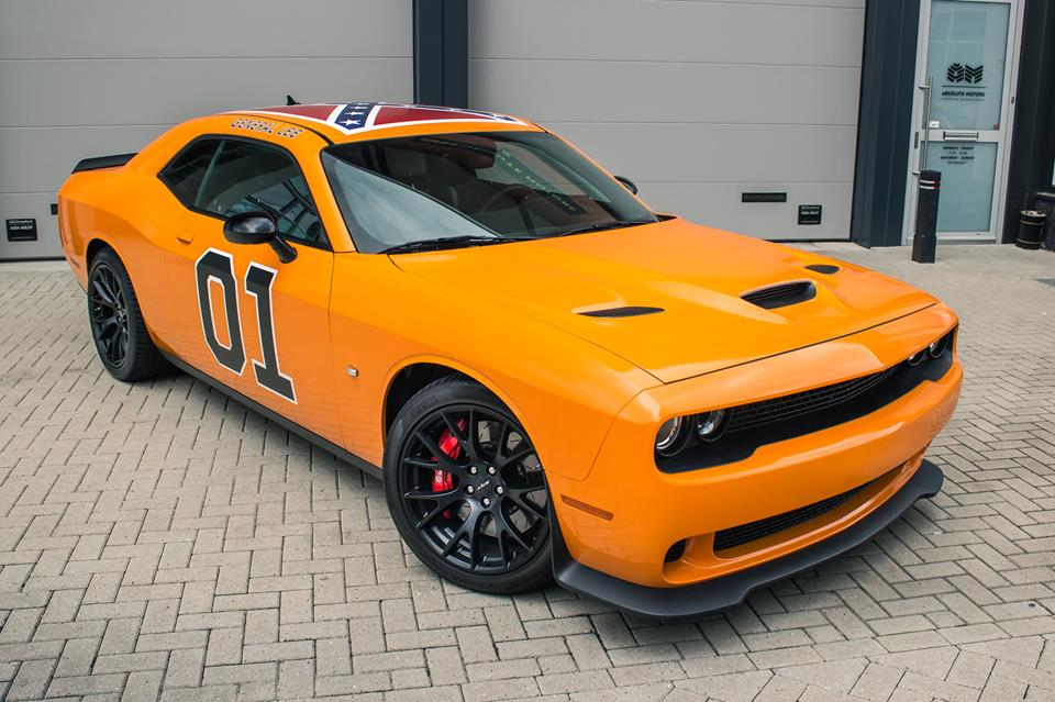 General Lee Dodge Challenger Hellcat Has Fitting Air Horn In The Netherlands Autoevolution