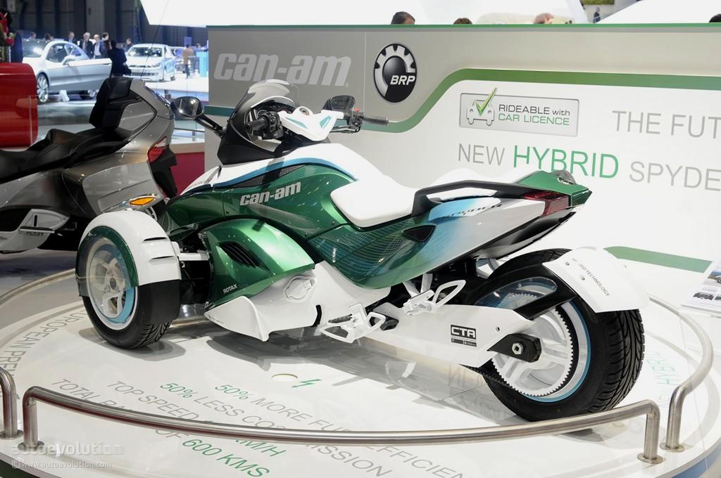 geneva 2011 hybrid canam spyder roadster live photos   autoevolution