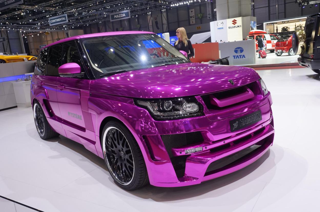 Geneva 2013 Chrome Pink Range Rover By Hamann Video