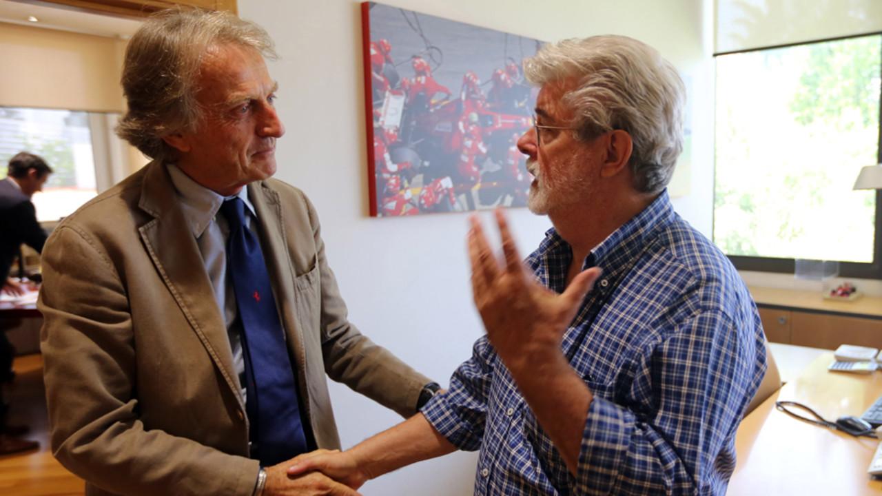 George Lucas And Samuel L Jackson Visit Ferrari In