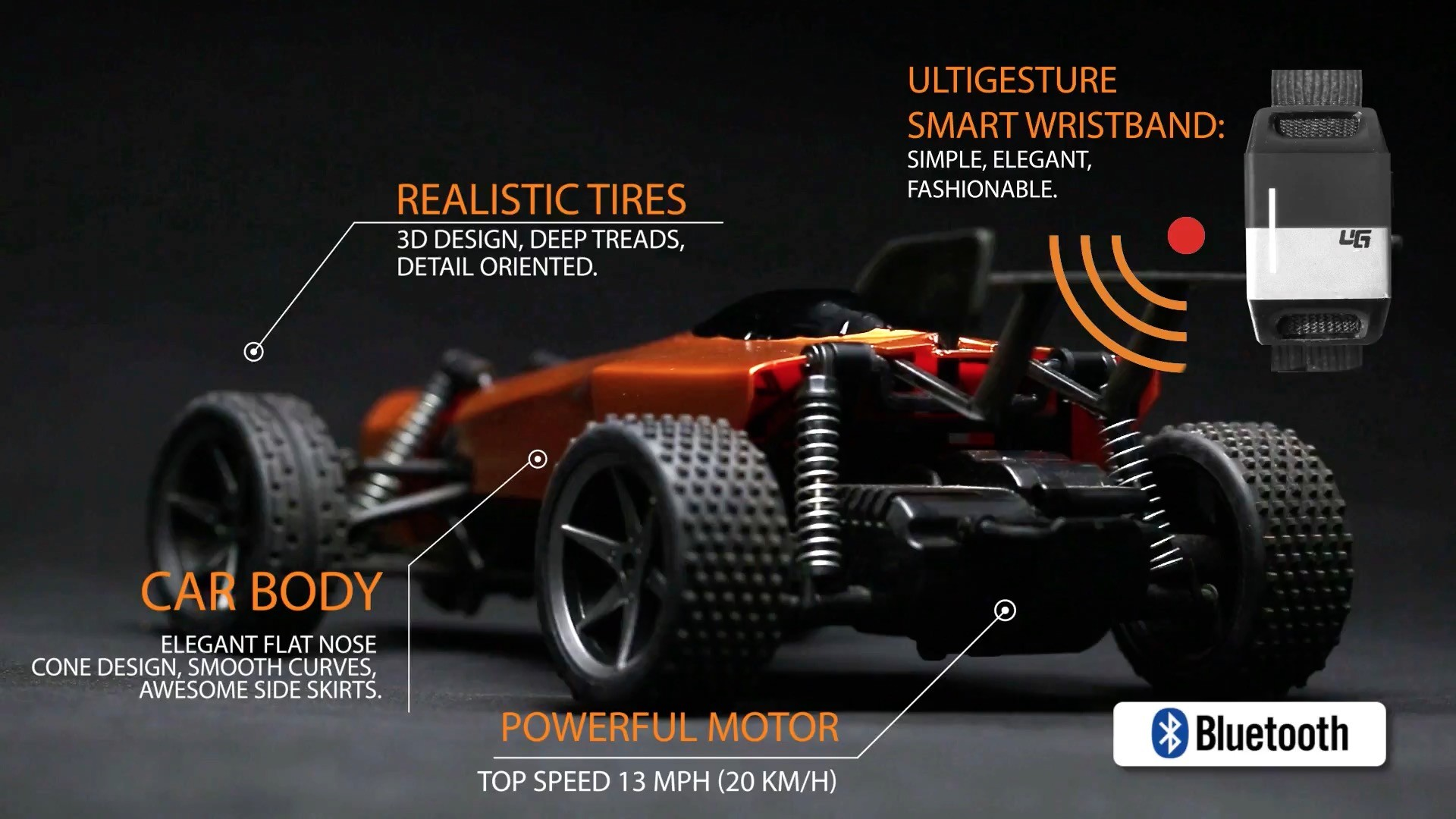 Ultigesture Gesture Controlled Toy Car