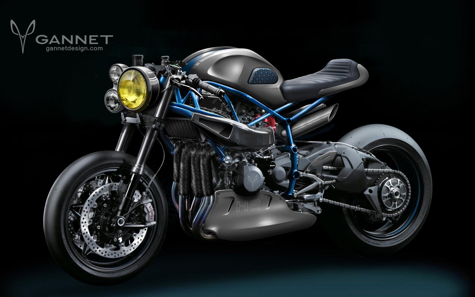 Get Ready For The Kawasaki Ninja H2 Cafe Racer Extreme
