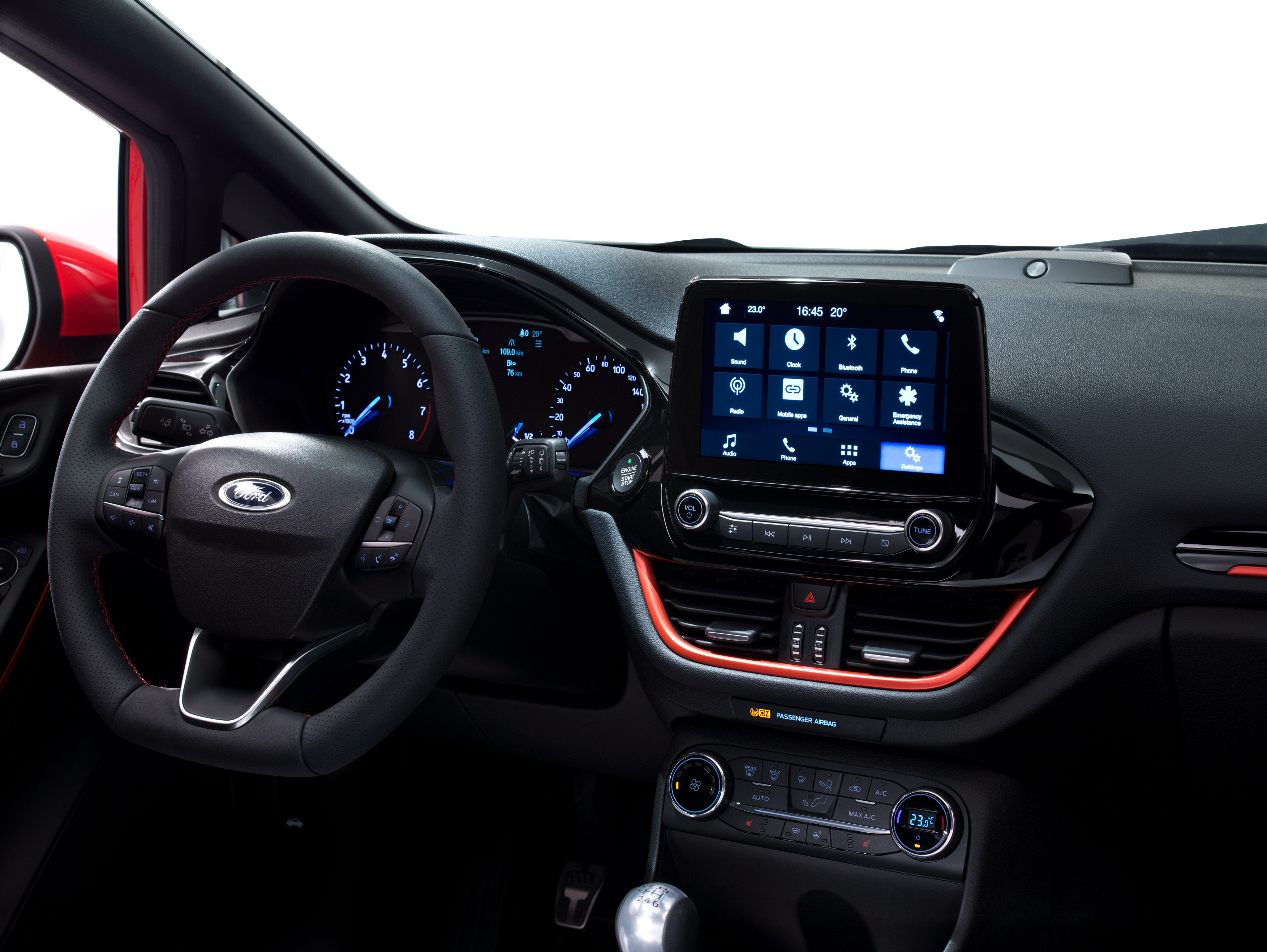 2017 Ford Fiesta Interior With 8 Inch Sync 3 Touchscreen Infotainment