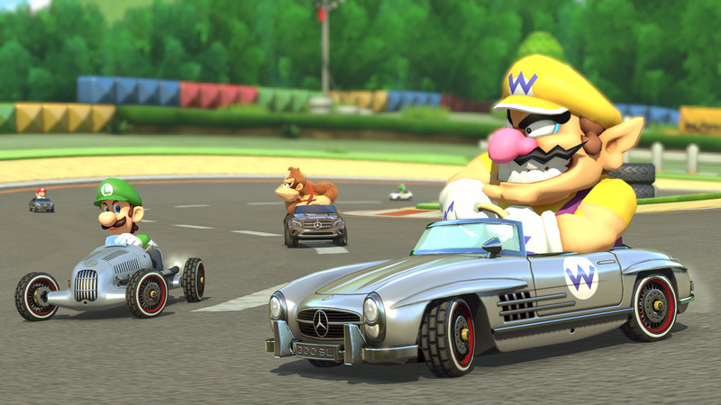 Gla 300 sl and silver arrow mercedes cars coming to mario for Mercedes benz games