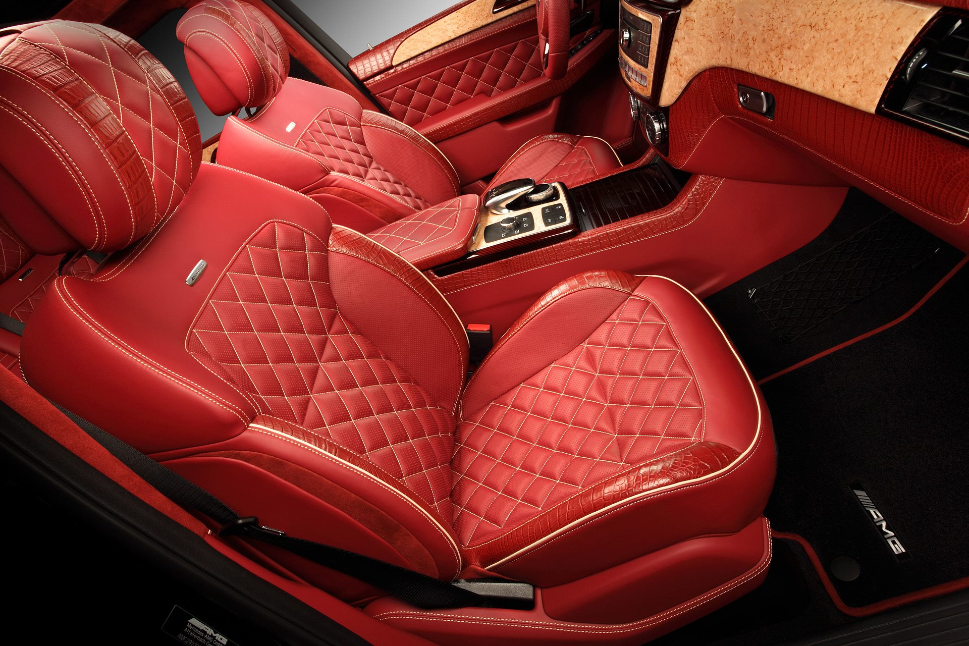 Gle Coupe Gets Red Carbon And Crocodile Leather Interior