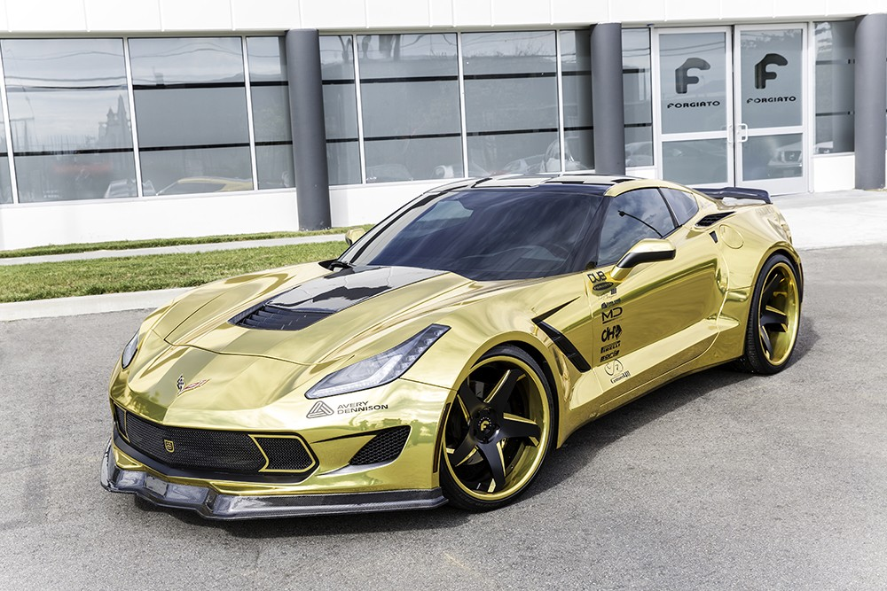Chevrolet Camaro Bodykit >> Gold Chrome-Wrapped Corvette is as Flashy as They Come – Video, Photo Gallery - autoevolution