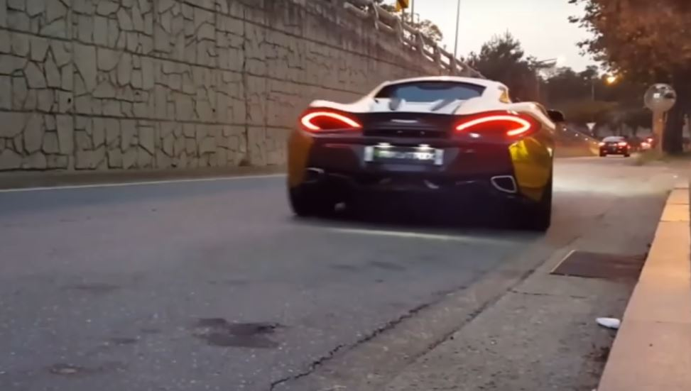 Chrome Gold Wrapped McLaren 570S With Armytrix Decatted Exhaust