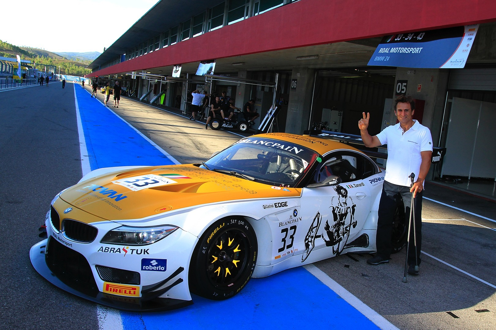 Golden Livery For Gold Medalist Alessandro Zanardi In