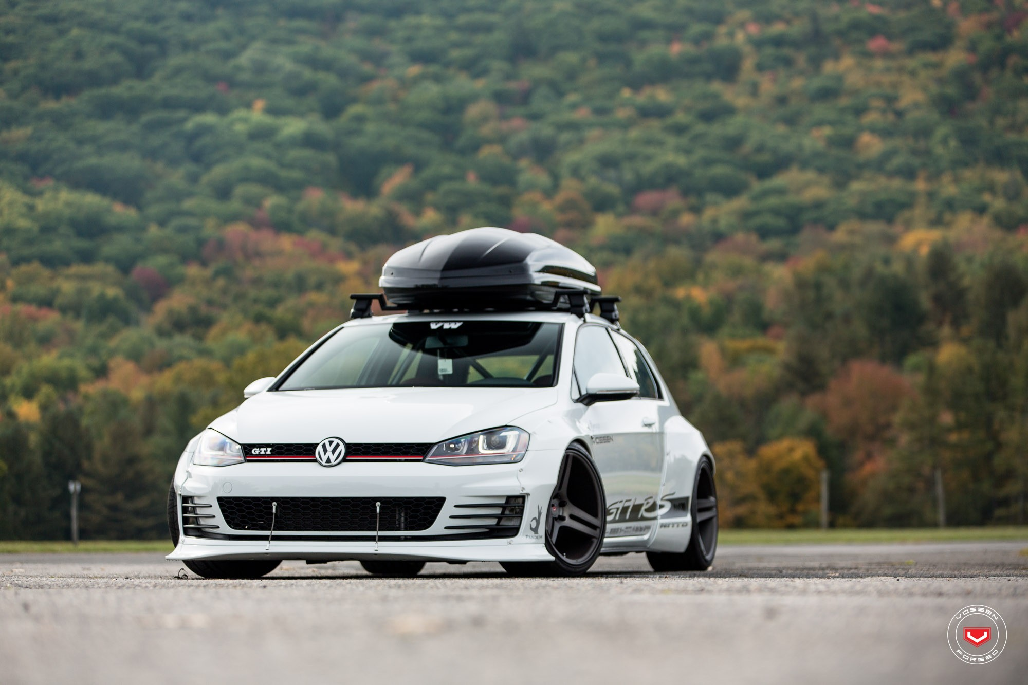 Golf Gti Rs Has Rocket Bunny Fenders Working Aero