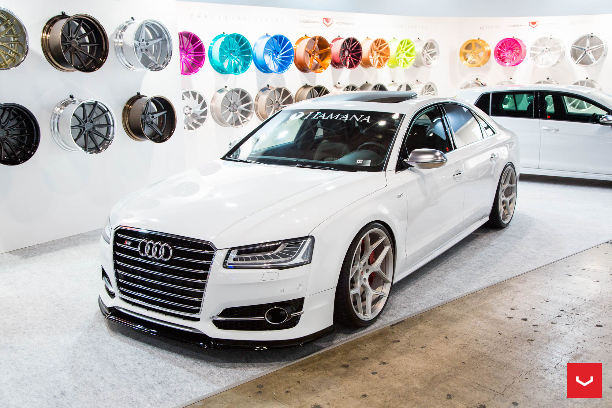 Golf r audi s8 and amg gt get widebody hamana kits and vossen wheels autoevolution