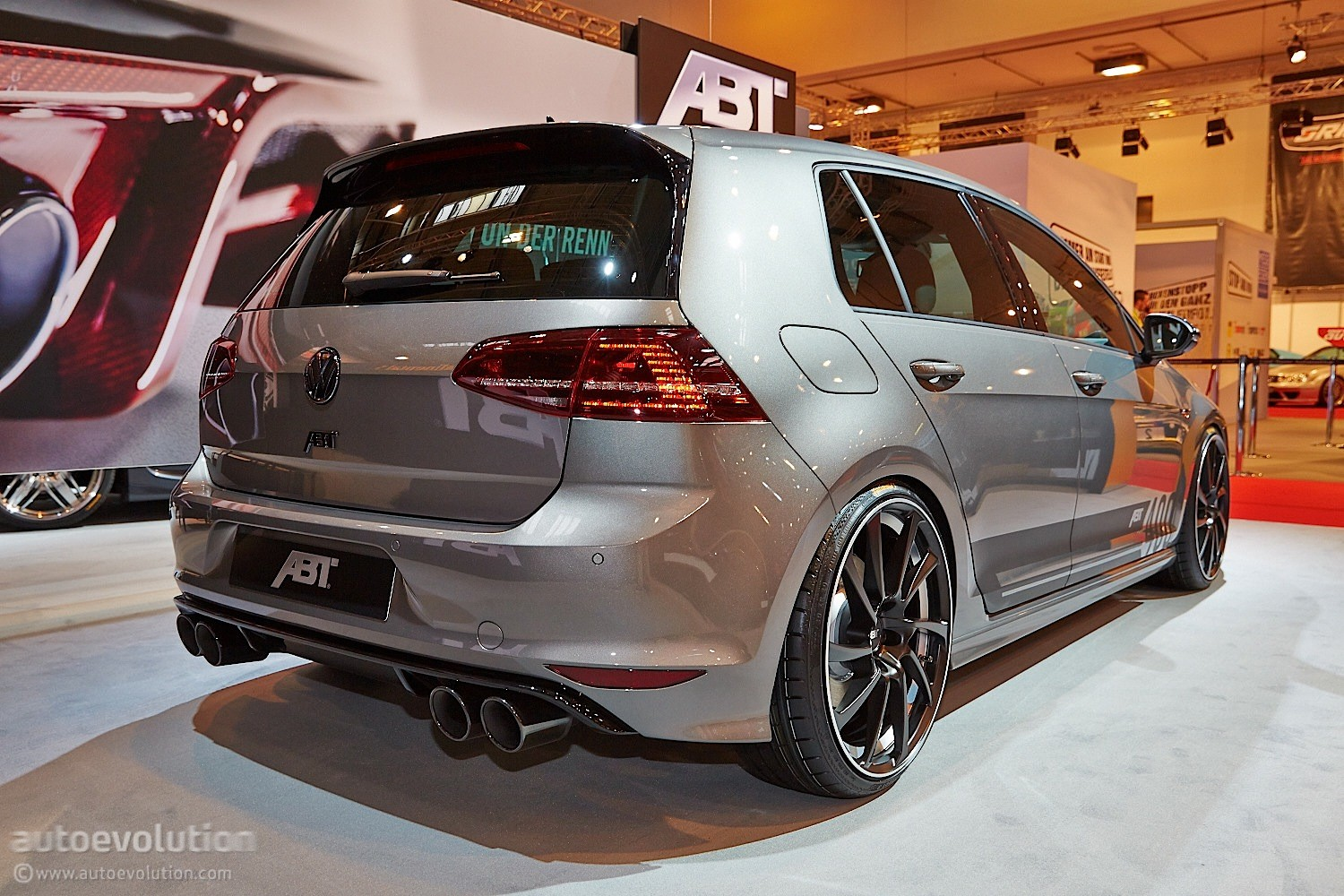 tuningcars golf r goes mental with 400 hp tuning kit from abt in essen. Black Bedroom Furniture Sets. Home Design Ideas