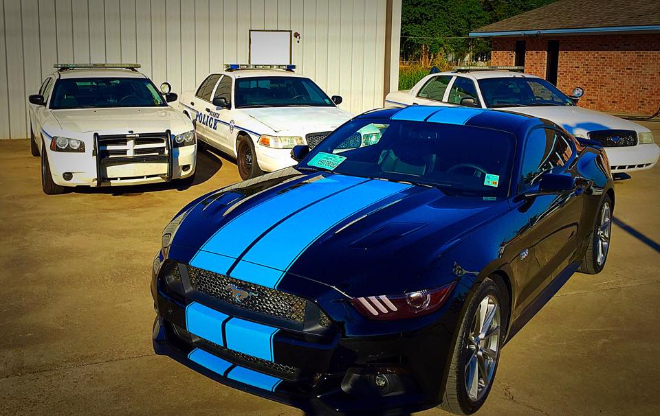Grabber Blue Stripes on 2015 Ford Mustang GT Fastback are a Must-Have ...