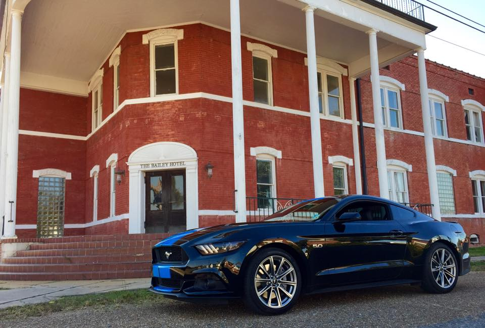 Grabber Blue Stripes On 2015 Ford Mustang Gt Fastback Are