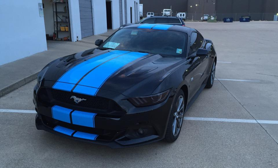 grabber blue stripes on 2015 ford mustang gt fastback are a must have autoevolution - Ford Mustang 2015 Blue