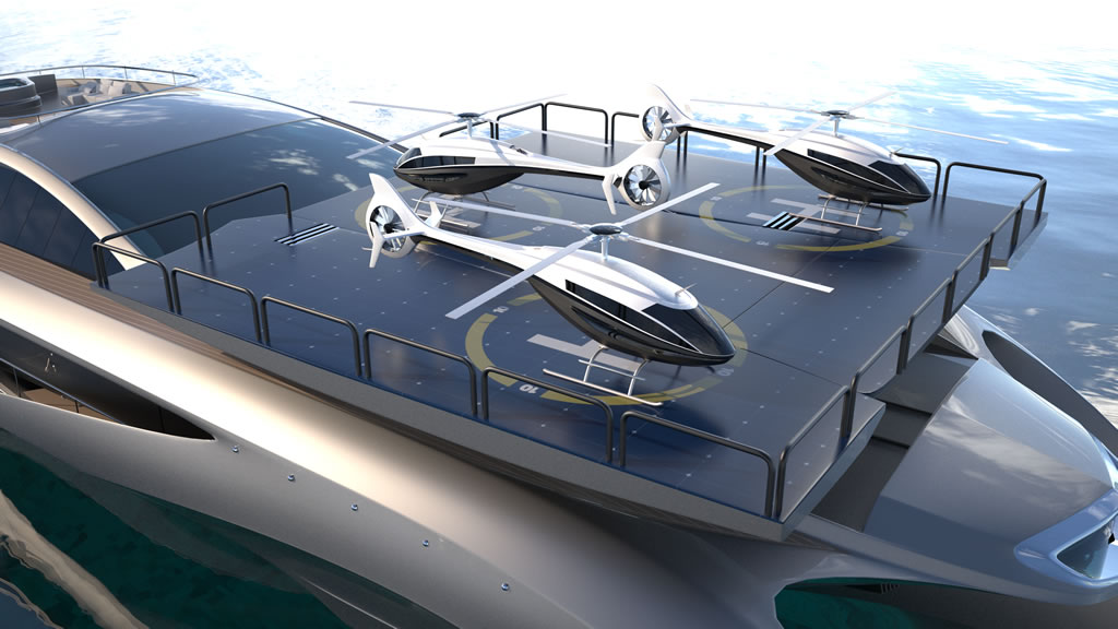 gray design showcases out of this world yacht autoevolution