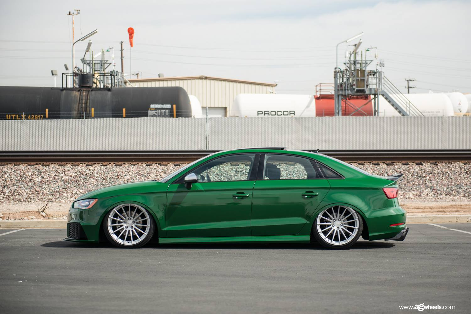 green audi a3 has rs3 bumper cool stance and trunk. Black Bedroom Furniture Sets. Home Design Ideas